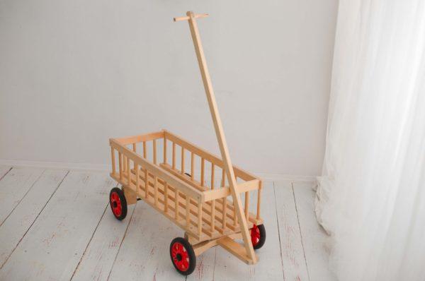 Wózek drewniany drabiniasty